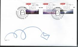 Denmark.  FDC. ATM Stamps 2005 - Machine Stamps (ATM)