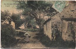 Cartolina, CPA Carte Postale, Postcard. La Vie Aux Champs. Le Guet. - Personnages
