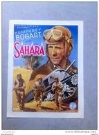 "HUMPHREY BOGART ""SAHARA"" Seconde Guerre Mondial Char 1943 Affiche Ancienne - Affiches & Posters"