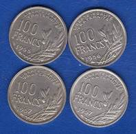 100 Fr  1956 B +1957+1957 B +1958 - France