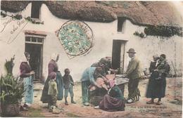 Cartolina, CPA Carte Postale, Postcard. La Vie Aux Champs. Un Sacrifice. - Personnages