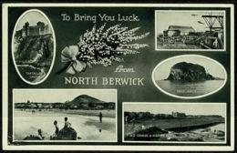 Ref 1276 - Multiview Postcard - North Berwick Scotland - Berwickshire