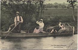 Cartolina, CPA Carte Postale, Postcard. La Vie Aux Champs. Au Fil De L'eau. - Personnages