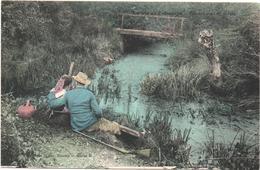 Cartolina, CPA Carte Postale, Postcard. La Vie Aux Champs. Repos Au Bord De La Rivière. - Personnages