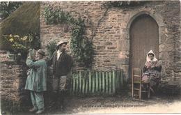 Cartolina, CPA Carte Postale, Postcard. La Vie Aux Champs. La Fleur Préférée. - Personnages