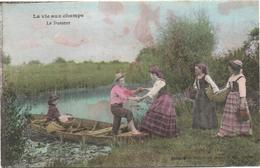 Cartolina, CPA Carte Postale, Postcard. La Vie Aux Champs. Le Passeur. - Personnages