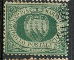 San Marino 1892 10c Coat Of Arms Issue #8 - San Marino