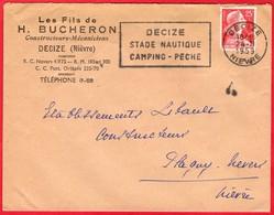 -- LETTRE à ENTÊTE - LES FILS DE H. BUCHERON -Constructeurs - Mécaniciens - DECIZE (Nièvre) -- - France