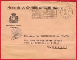 -- LETTRE à ENTÊTE - MAIRIE De LA CHARITE Sur LOIRE (Nièvre)   -- - France