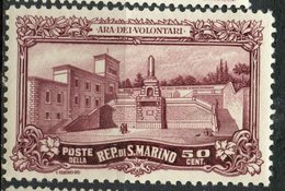 San Marino 1927 50c War Memorial Issue #108 - San Marino