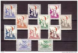 1950 TURKEY RED CRESCENT SYMBOLICAL DESIGNS MINT WITHOUT GUM - 1921-... République