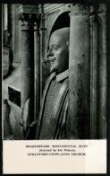 Ref 1277 - Early Postcard - Shakespeare Monumental Bust - Stratford-upon-Avon Church - Warwickshire - Stratford Upon Avon