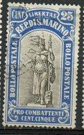 San Marino 1918 25c Statue Of Liberty Issue #B7 - San Marino