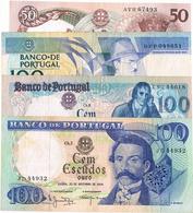 NOTAS - 8 EXEMPLARES  DE 20$00 (3) E 50$00 (2) 100$00 (3) - Portugal