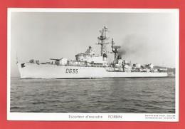 """C.P.A. """" Marine Nationale """" Escorteur D'escadre FORBIN  ( Animée ) -Voir 2 Photos - Guerre"""