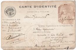 TOURING CLUB De FRANCE. PARIS. CARTE D'IDENTITE. CACHET MAIRIE De TOURETTE (69) ALAIN GARNIER. - Old Paper