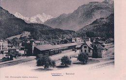 Interlaken, Bahnhof, Chemin De Fer Gare Et Train (7051) - BE Berne