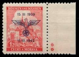 BÖHMEN MÄHREN Nr 83PlSt2Re Postfrisch X72DE22 - Böhmen Und Mähren