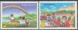 1986 Cleanliness & Courtesy Rainbow Kite Crosswalk Book Lake Car Kid Fishing - Transport