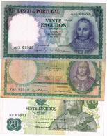 NOTAS - 3 EXEMPLARES  DE 20$00 (3) . - Portugal