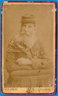 En L'état Top PHOTO Photographie CDV Pirou 75005 PARIS Portrait Officier Armée (des Vosges) (GARIBALDI) Militaria - Anciennes (Av. 1900)