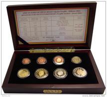 BELGIQUE KMS Proofset 2003 Dans Boîte En Acajou D'origine  Pièces (1 Cent à 2 €) - Euro Proof Set In Box - Belgique