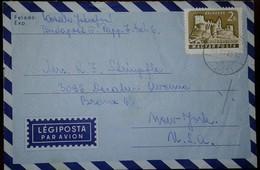 O) 1963 HUNGARY, BOLDOCKO CASTLE, LEGIPOSTA TO USA - Hungary