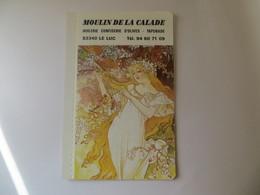 Calendrier 1990 Type Agenda Illustration Avec  5 Affiche Mucha -Publicité Huilerie De La Calade 83 Le LUC - Calendriers