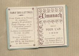 Calendrier Ancien 1898 En Parfait Etat - Petit Almanach Complet Imprimerie Papeterie GRY Paris Rue Montmartre - Calendriers
