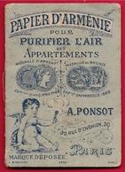 PAPIER D'ARMENIE A. PONSOT (modèle Rare) 75010 PARIS Rue D'Enghien - Old Paper