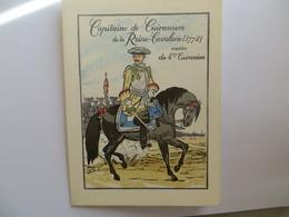 Programme Militaria Capitaine De Cuirassiers De La Reine Cavalerie -4 ème Regiment De Cuirassiers Fête De Saint Georges - Programs