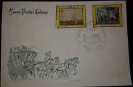 O) 1965 CUBA-CARIBBEAN, SPANISH ANTILLES, DIORAMAS IN NEW  CUBAN POSTAL MUSEUM -HORSE, FDC XF - FDC