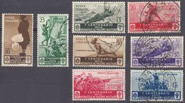 ITALIA - 1934 - Lotto Di 8 Valori Usati: Yvert 346/353. - 1900-44 Vittorio Emanuele III