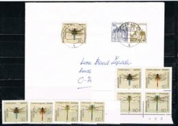 DEUTSCHLAND/ BRD  -  Libellen # 1545 - 1552 ** + Bedarfsbrief  # 1546 - 1454 - [7] Federal Republic