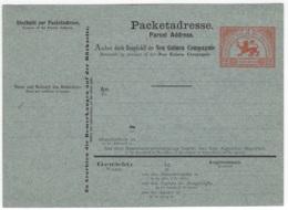 DEUTSCH-NEU-GUINEA -  Paketkarte Neu-Guinea-Compagnie, Ungebraucht - 965 - Colony: German New Guinea