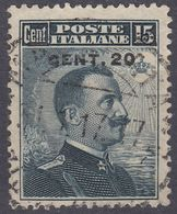 ITALIA - 1916 - Yvert 102 Usato. - 1900-44 Vittorio Emanuele III