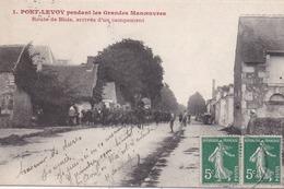 41 PONTLEVOY Pendant Les Grandes Manoeuvres - Route De Blois, Arrivée D'un Campement - (Pont-Levoy) - France
