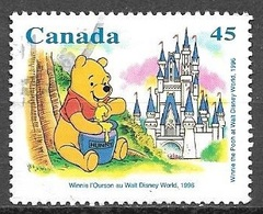 1996 45 Cents Winnie The Pooh, Used - 1952-.... Reign Of Elizabeth II