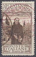 ITALIA - 1926 - Yvert 191 Usato. - 1900-44 Vittorio Emanuele III
