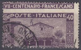 ITALIA - 1926 - Yvert 188 Usato Fortemente Decentrato. - 1900-44 Vittorio Emanuele III