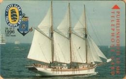 Finland - Turku TTL-D-250, C.S.T.R.-96 Linden, 10mk, 5.000ex, Exp.12/98, Cutty Sark Tall Ships Races - Finland