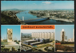 Budapest  -  Mehrbild  Ansichtskarte Ca.1978    (9809) - Hungary