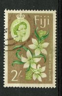 Fiji 1962 2sh White Orchid Issue #184 - Fiji (...-1970)