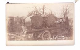 Guerre 14 18 WW1 Soldat Americain Carte Photo Delouser Cootie Killer Co 140 Th Inf Camion Traitement Poux - Guerre 1914-18