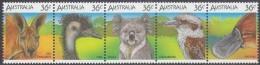 AUSTRALIA, 1986 WILDLIFE STRIP 5 MNH - 1980-89 Elizabeth II