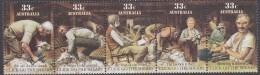 AUSTRALIA, 1986 CLICK GO THE SHEARS STRIP 5 MNH - 1980-89 Elizabeth II