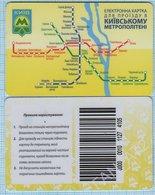 UKRAINE Kiev Kyiv Metro Metropolitan Subway Underground Plastic Rechargeable Card Ticket 2013 - Abonnements Hebdomadaires & Mensuels
