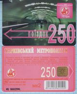 UKRAINE Kharkov Kharkiv Metro Metropolitan Subway Underground Plastic Card 250 Trips.1998 - Abonnements Hebdomadaires & Mensuels