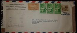 O) 1941 CUBA-CARIBBEAN, SPANISH ANTILLES, CENSORSHIP- CORREO AEREO TRANSATLANTICO- VIA NEW YORK-LISBOA. JOSE HEREDIA SC - Cuba