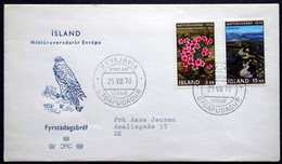 Iceland 1970  Nature Protection Year  Minr.447-48    FDC  (4792 ) - FDC